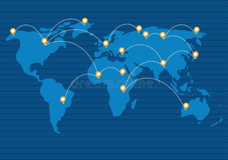 De macht van netwerk stock illustratie