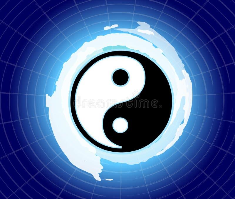 De macht van yin & yang stock afbeelding
