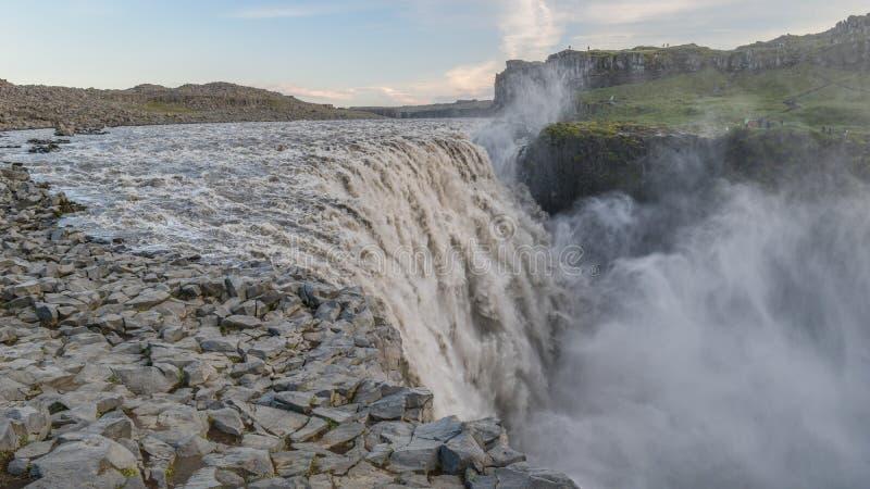 De machtige Dettifoss-waterval, Noord-IJsland royalty-vrije stock foto's