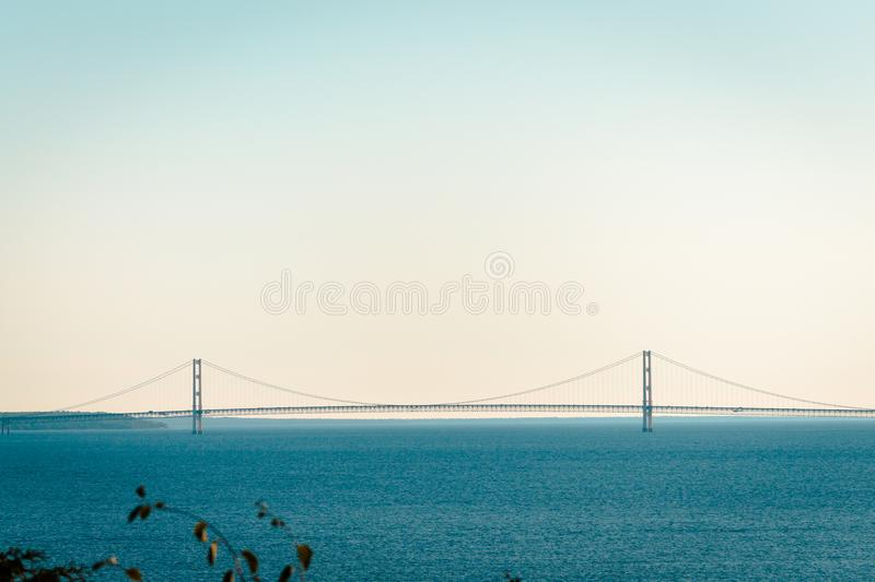 De Machtige Mackinac-Brug royalty-vrije stock fotografie
