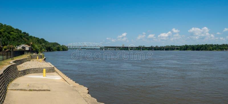 De machtige Rivier van de Mississippi stock fotografie