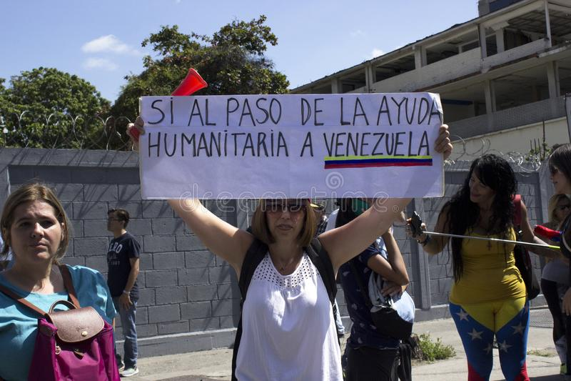 De machtsbesnoeiingen van Venezuela: De protesten breken in Venezuela over elektriciteitspanne uit royalty-vrije stock foto's