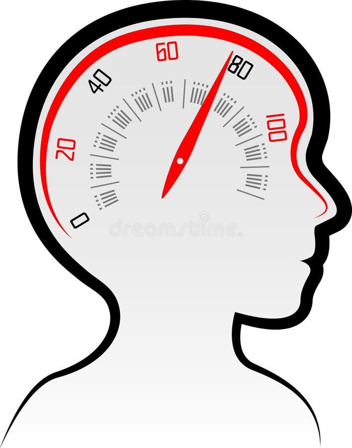 De machtsembleem van de hersenensnelheid vector illustratie