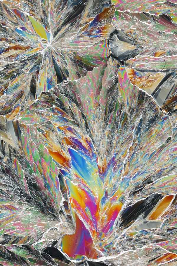 De macro van citroenzuurkristallen royalty-vrije stock afbeeldingen