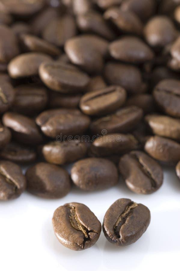 De Macro van de Bonen van de koffie stock afbeelding