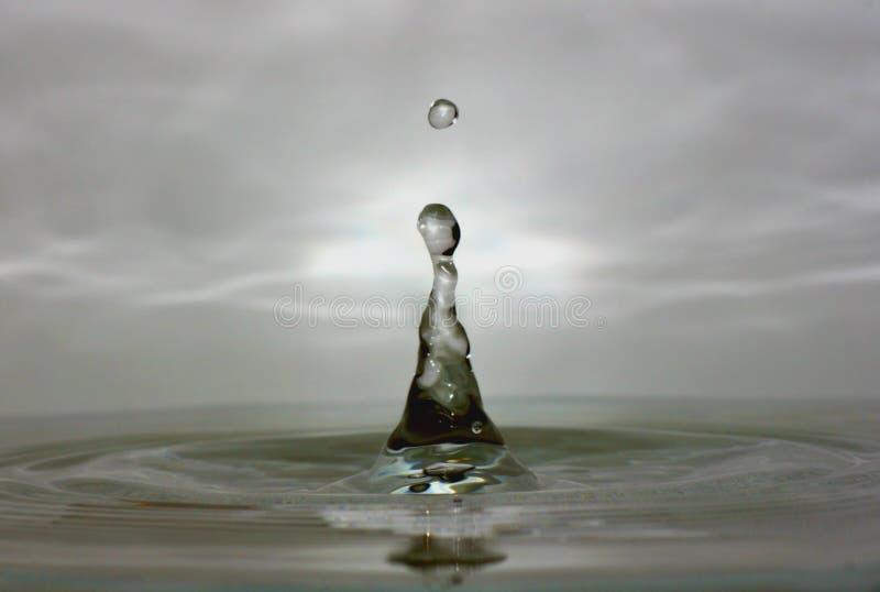 De Macro van de Daling van het water royalty-vrije stock afbeeldingen