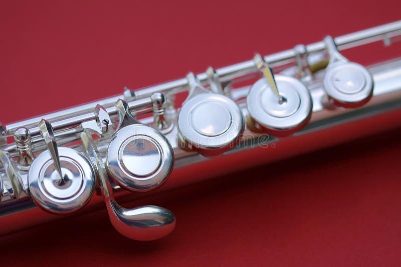 De macro van fluitsleutels royalty-vrije stock foto's