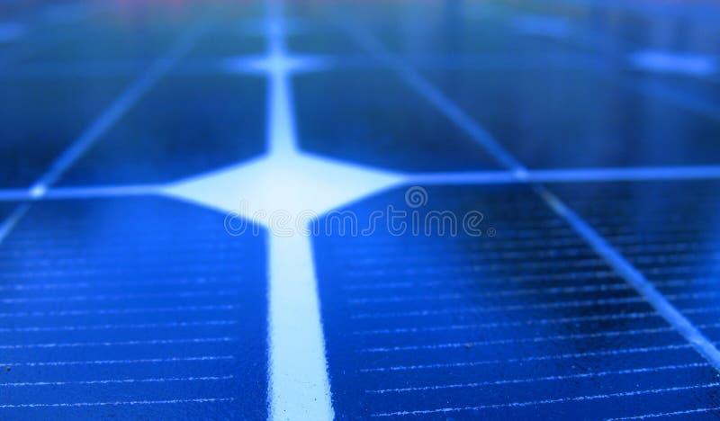 De Macro van het zonnepaneel royalty-vrije stock afbeelding