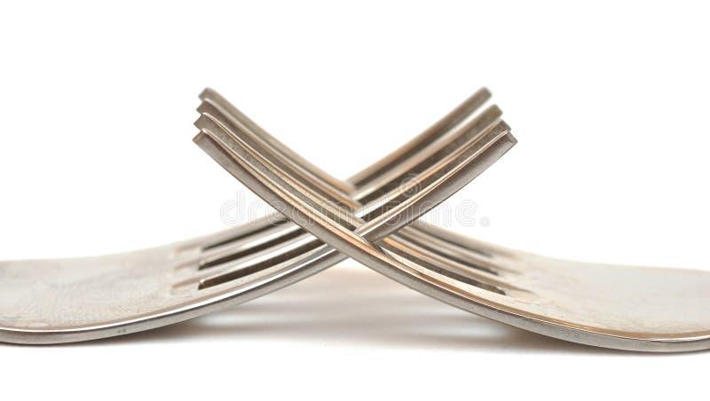 De macro van vorken stock foto