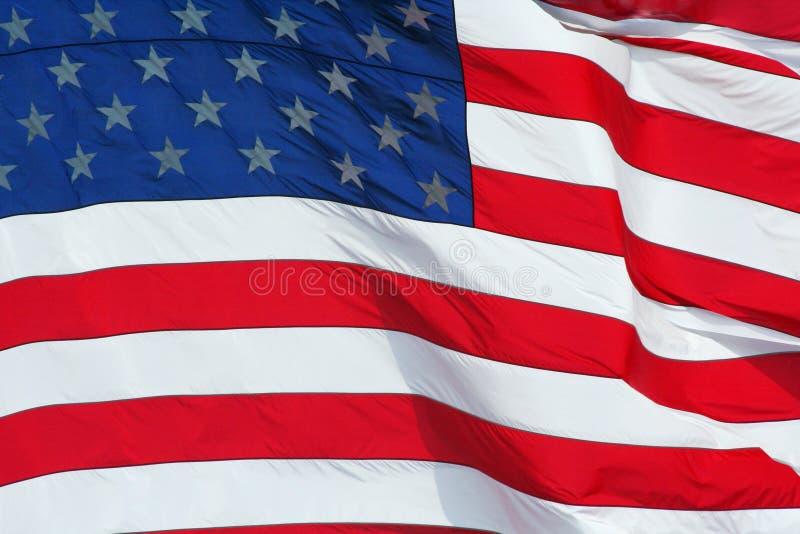 De macroachtergrond van de Vlag van de V.S. stock fotografie