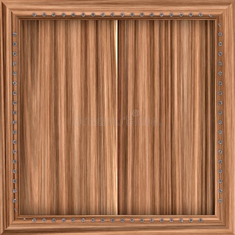 De madeira ilustração stock