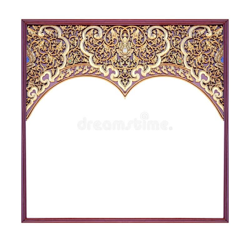 De madeira do quadro cinzelado isolado no branco fotos de stock royalty free