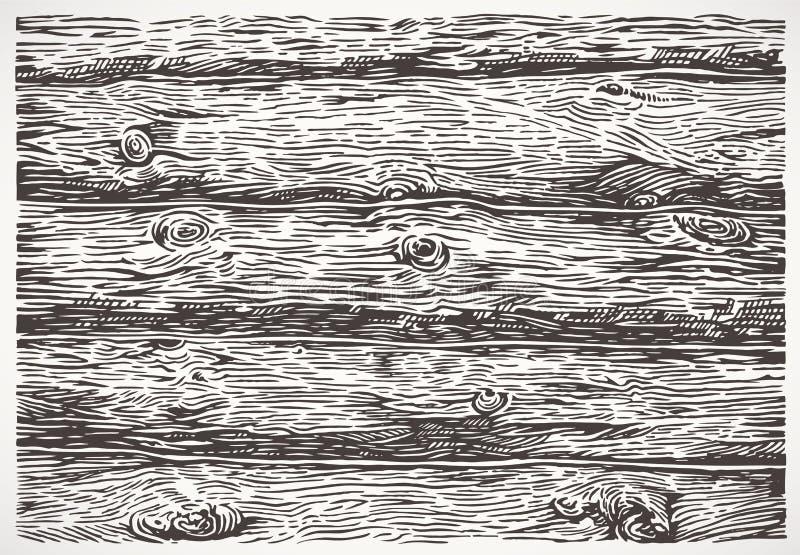 De madeira entra um estilo gráfico ilustração royalty free