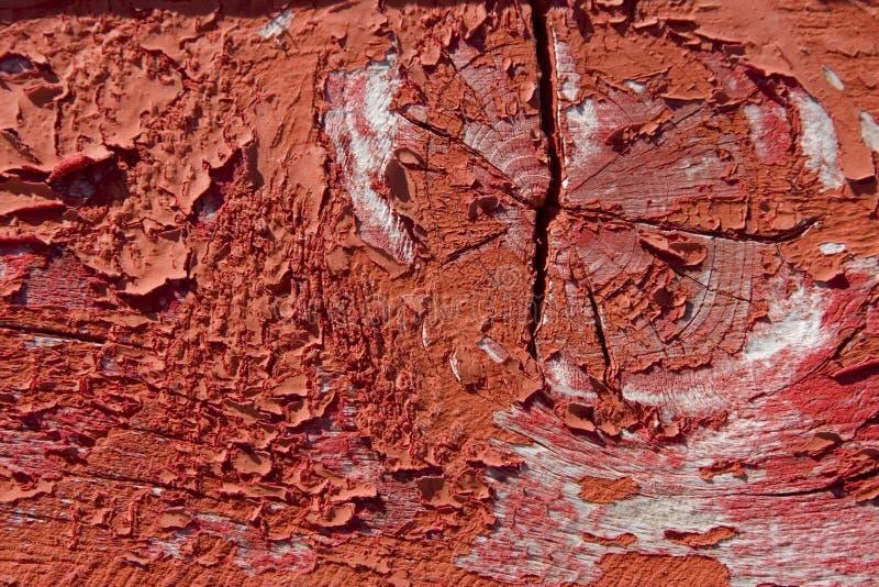 De madeira vermelho com pintura do grunge imagens de stock