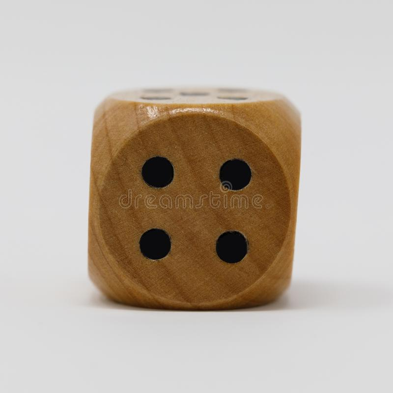 De madera reales mueren el punto 4 imagenes de archivo