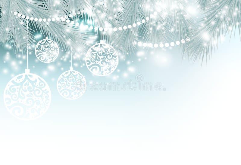 De magische Achtergrond van Kerstmis stock foto's