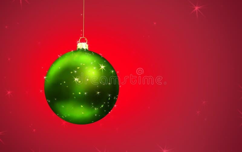 De MAGISCHE bal van Kerstmis stock illustratie