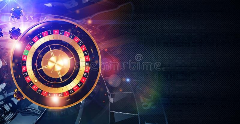 De magische Banner van het Roulettespel royalty-vrije illustratie