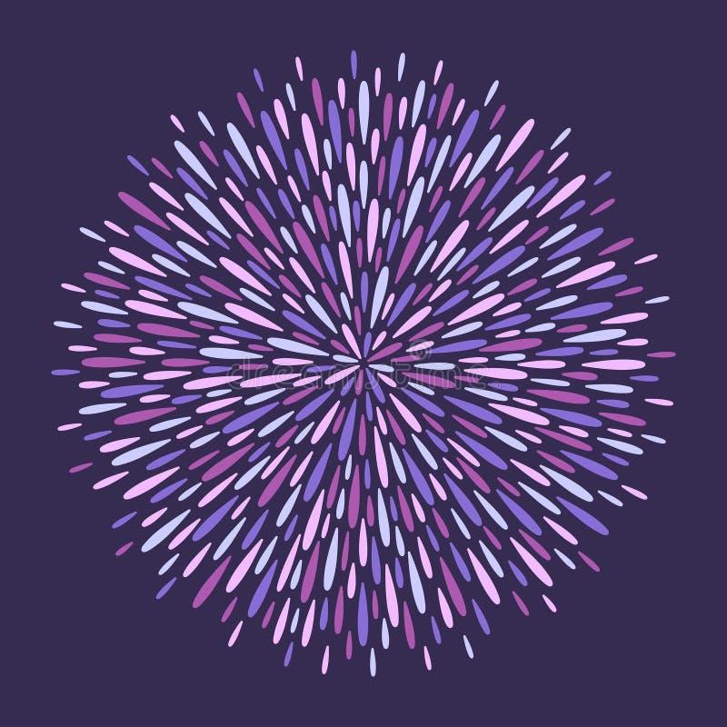De magische cirkel die van plons, spat, lange dalingen wordt gemaakt, ploetert stock illustratie