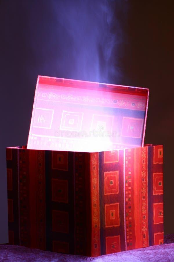 De magische doos van de vakantie stock foto