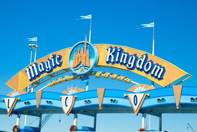 De magische Ingang van het KoninkrijksPretpark stock foto's