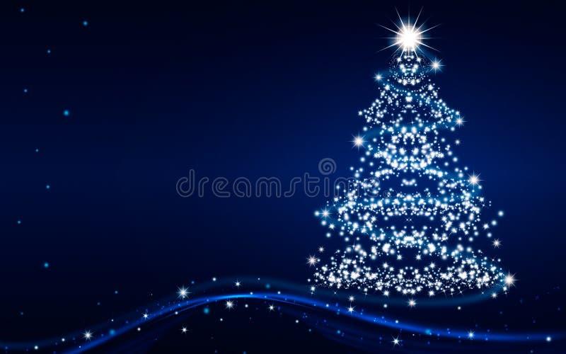 De magische Kerstboom royalty-vrije illustratie