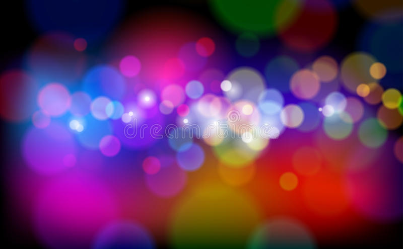 De Magische Lichten van de kleur vector illustratie