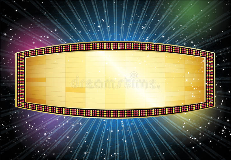 De Magische Markttent van de film royalty-vrije illustratie
