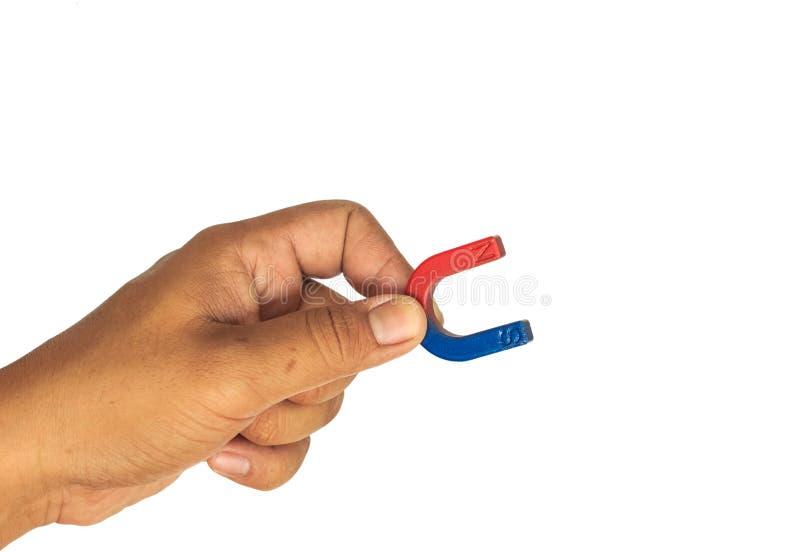 De magneet van de handgreep op wit royalty-vrije stock foto