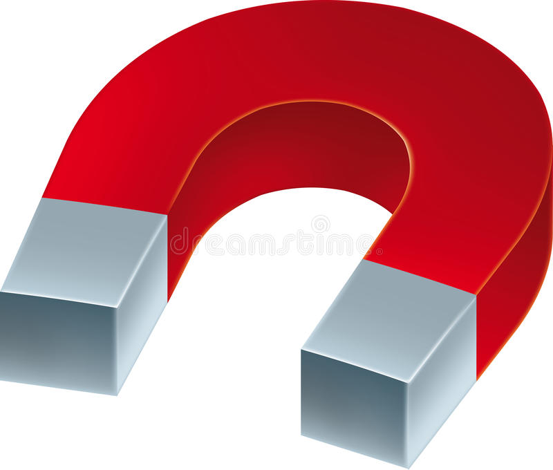 De magneet van het ijzer stock illustratie