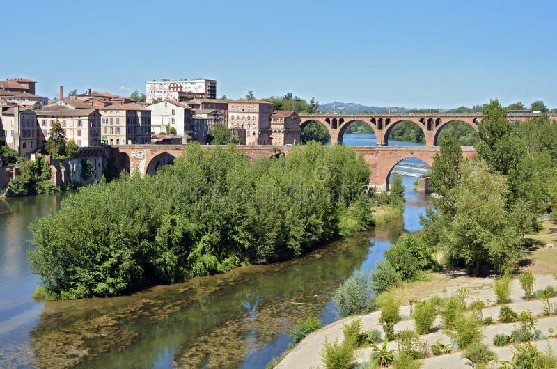 De Maine-rivier in Albi in Frankrijk royalty-vrije stock foto