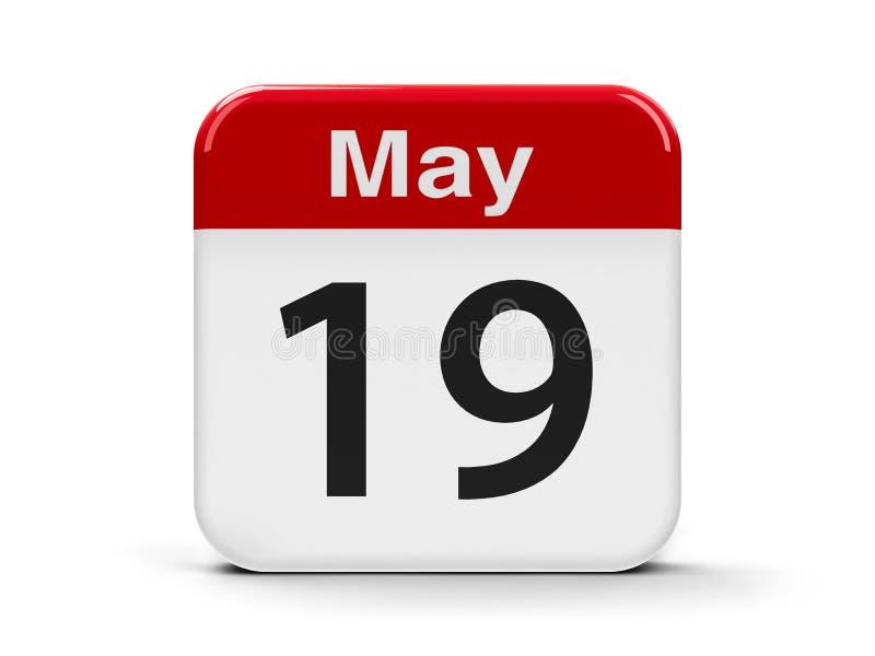 19 de maio calendário ilustração stock