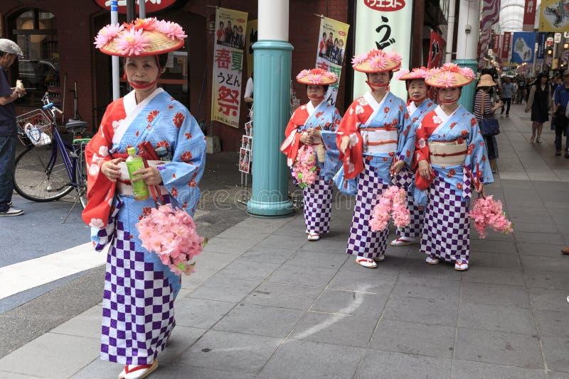 4 de maio de 2017 Festival da rua de Fukuoka imagens de stock