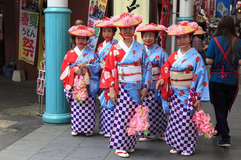 4 de maio de 2017 Festival da rua de Fukuoka fotografia de stock