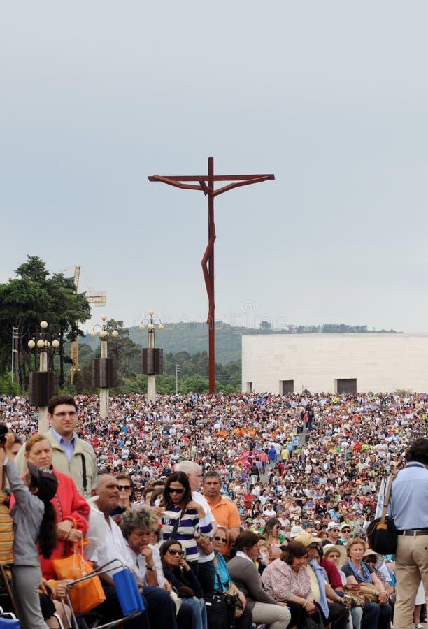 13 de maio peregrinação, Fatima @Portugal fotos de stock royalty free