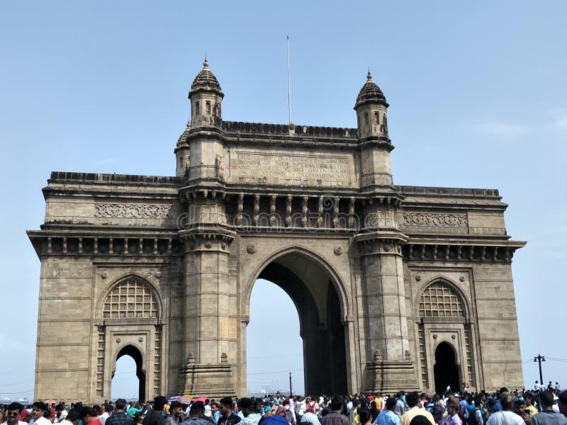 De majestueuze Gateway van India, Mumbai royalty-vrije stock foto