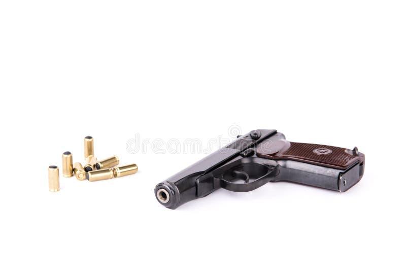 De Makarov de pistolet modifaid légalement au pistolet travmatic, d'isolement photo stock