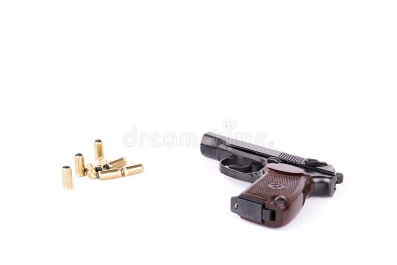 De Makarov de pistolet modifaid légalement au pistolet travmatic, d'isolement photographie stock