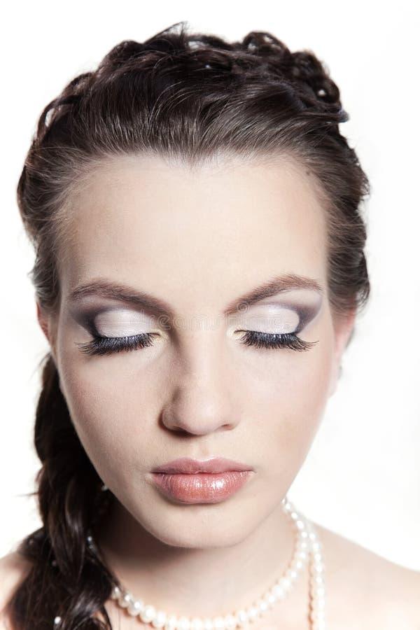 De make-up van de bruid royalty-vrije stock afbeelding