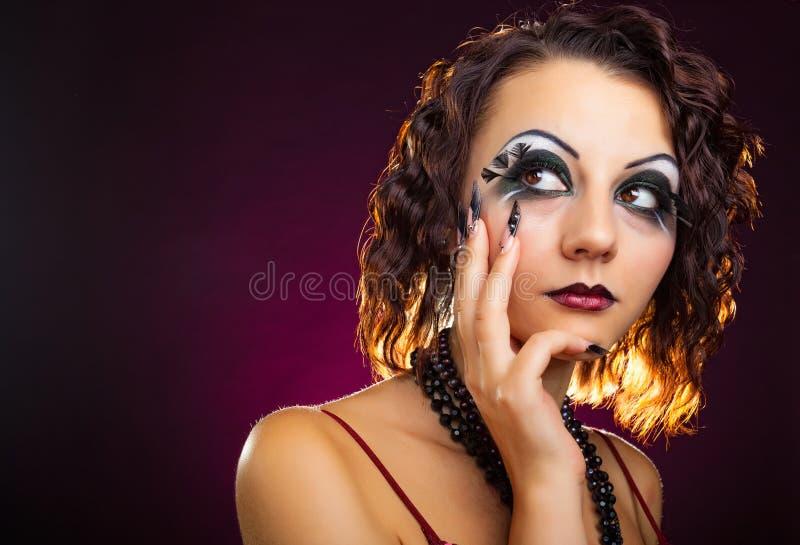 De Make-up van de manier royalty-vrije stock foto's