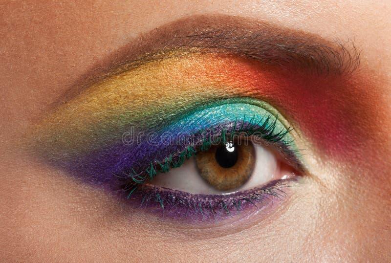 De make-up van de regenboog stock foto