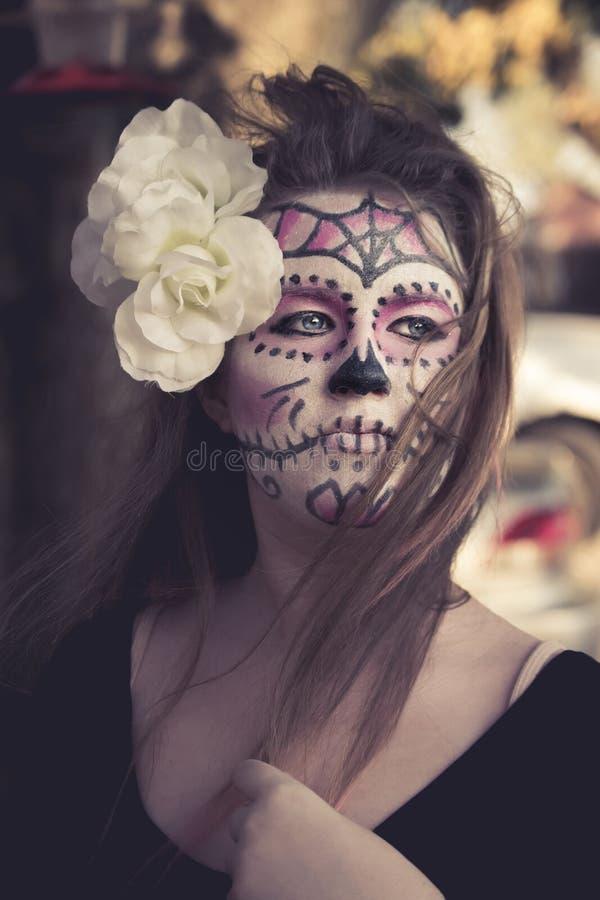 De make-up van de suikerschedel royalty-vrije stock foto