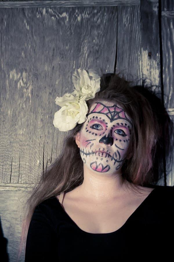 De make-up van de suikerschedel stock afbeelding