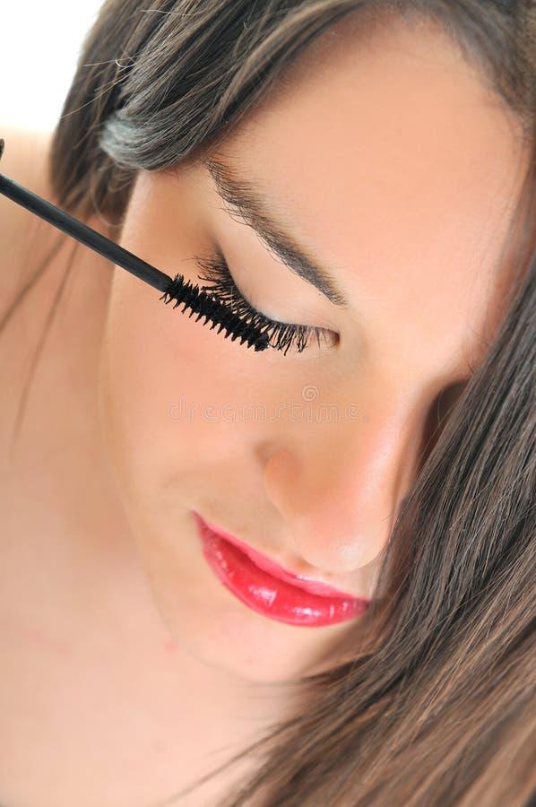 De make-up van de wimper stock afbeeldingen