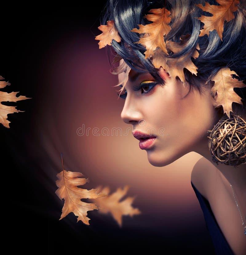 De Make-up van het Meisje van de herfst stock fotografie