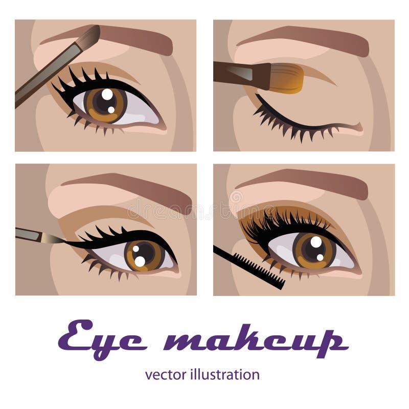 De make-up van het oog vector illustratie