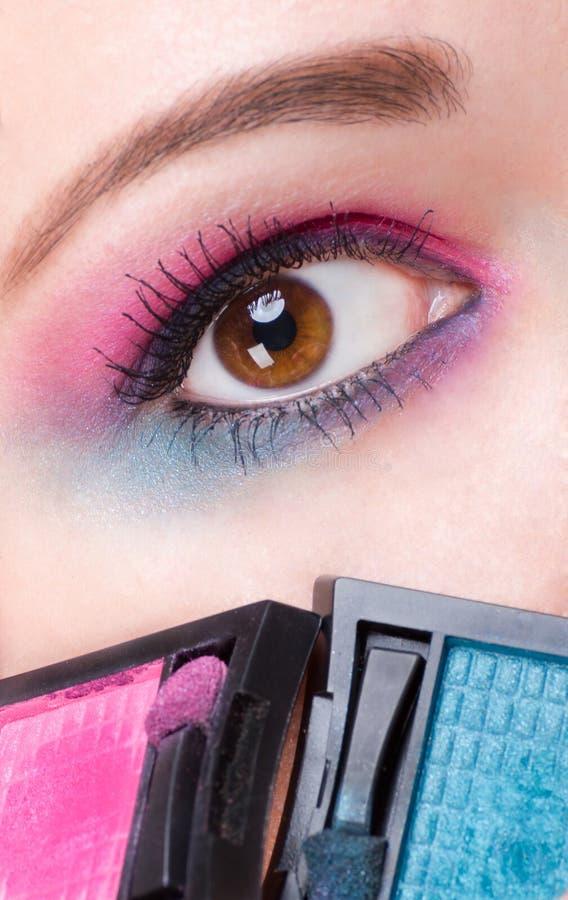 De make-up van het oog royalty-vrije stock fotografie