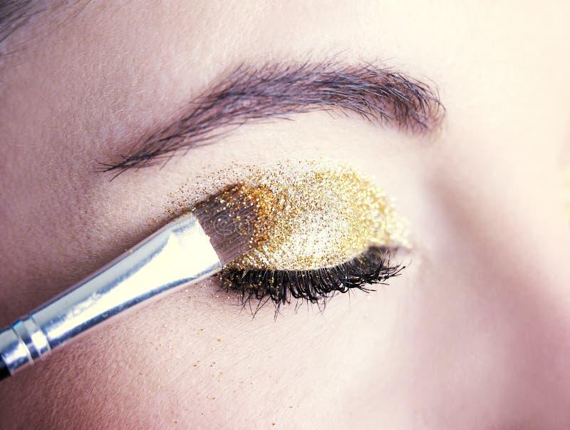 De Make-up van het oog Het detail van de vakantiemake-up Detai van de vakantiemake-up royalty-vrije stock foto