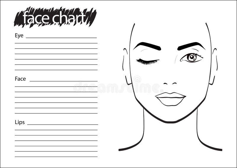 De Make-upkunstenaar Blank van de gezichtsgrafiek vector illustratie