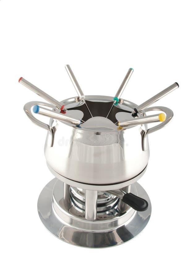 De maker van de fondue royalty-vrije stock afbeelding
